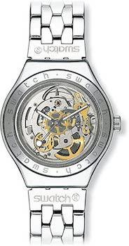 Swatch Irony Body & Soul Automatic Skeleton Dial Watch