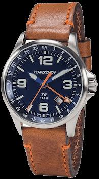 Torgoen T9 Blue GMT Watch