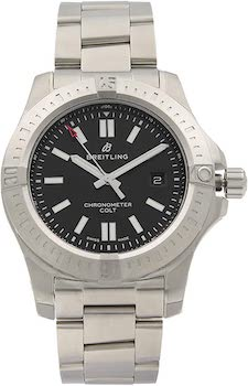 Breitling Chronomat Colt Automatic 44 Black Dial Watch